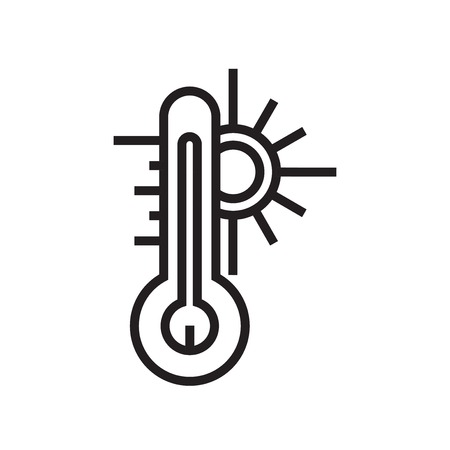 Thermometer icon vector isolated on white background for your web and mobile app design, Thermometer logo concept