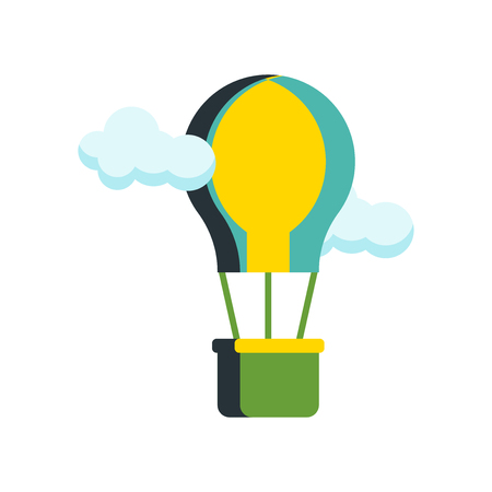 Hot air balloon icon vector isolated on white background for your web and mobile app design, Hot air balloon logo concept