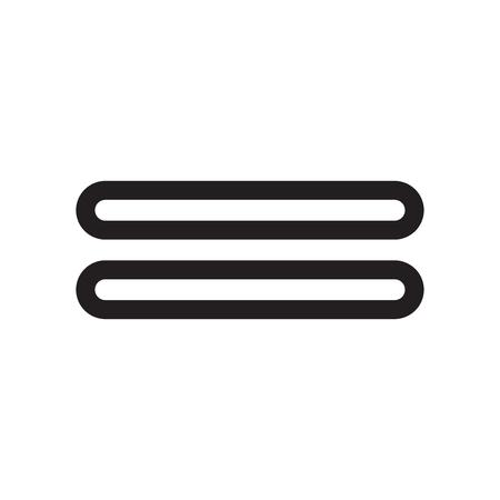 Vector icono de signo igual aislado sobre fondo blanco para su diseño web y aplicaciones móviles, concepto de logo de signo igual Logos