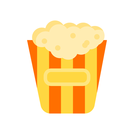 Popcorn icon vector isolated on white background for your web and mobile app design, Popcorn logo concept