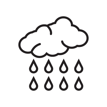 Rain icon vector isolated on white background for your web and mobile app design, Rain logo concept