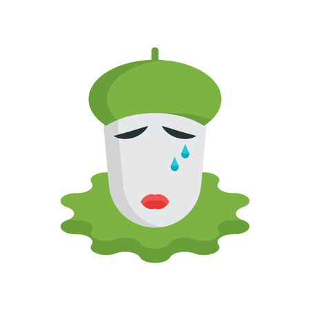 Pierrot icon vector isolated on white background for your web and mobile app design, Pierrot logo concept