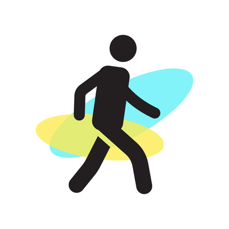 Person walking icon vector isolated on white background for your web and mobile app design, Person walking logo concept Çizim