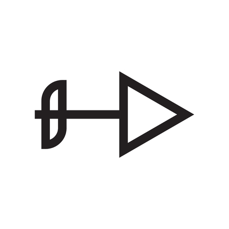 Right arrow icon vector isolated on white background for your web and mobile app design, Right arrow logo concept  イラスト・ベクター素材