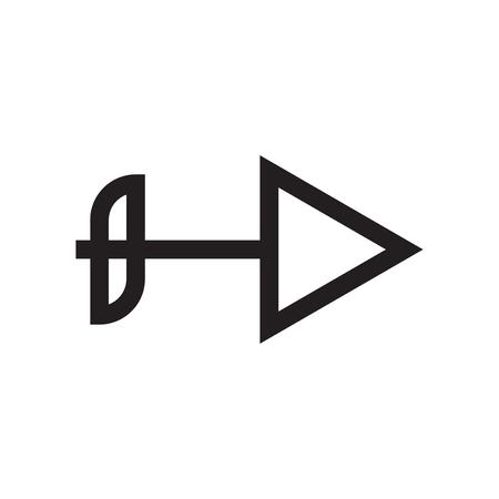Vector icono de flecha derecha aislado sobre fondo blanco para su diseño web y aplicaciones móviles, concepto de logo de flecha derecha