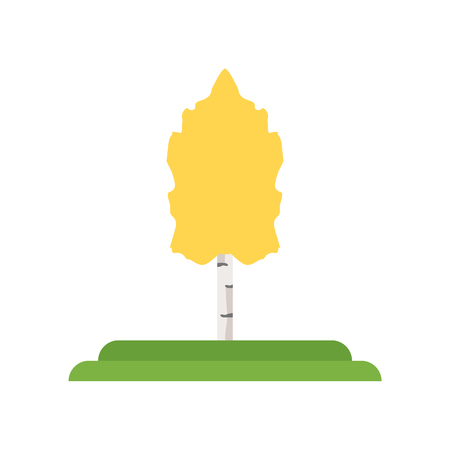 Quaking Aspen tree icon vector isolated on white background for your web and mobile app design, Quaking Aspen tree logo concept