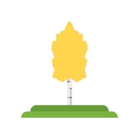 Trillende Aspen boom pictogram vector geïsoleerd op een witte achtergrond voor uw web en mobiele app design, trillende Aspen boom logo concept