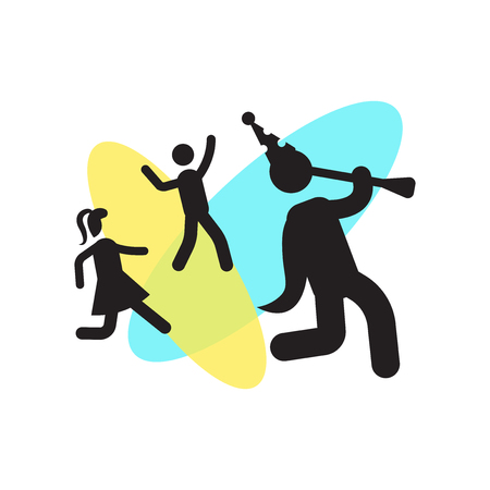Troubadour with Kids icon vector isolated on white background for your web and mobile app design, Troubadour with Kids logo concept