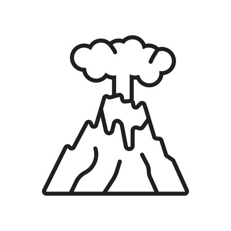 Eruption icon vector isolated on white background for your web and mobile app design, Eruption logo concept Banque d'images - 106948185