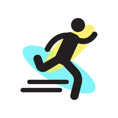 Runner icon vector isolated on white background for your web and mobile app design, Runner logo concept