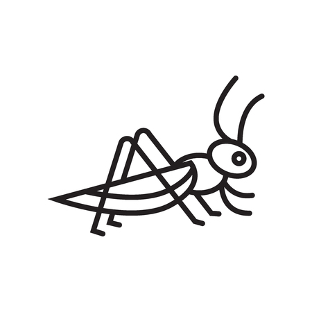 Locust-Symbolvektor lokalisiert auf weißem Hintergrund für Ihr Web- und mobiles App-Design, Locust-Logo-Konzept Logo
