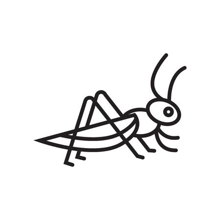 Locusta icona vettoriale isolato su sfondo bianco per il vostro web e progettazione di app per dispositivi mobili, concetto di marchio di locusta Vettoriali