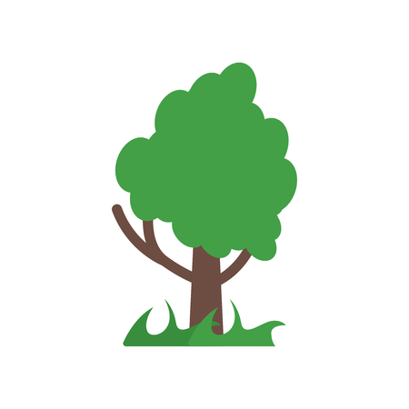 Tree icon vector isolated on white background for your web and mobile app design, Tree logo concept Illustration