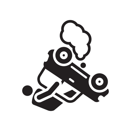 Accident icon vector isolated on white background for your web and mobile app design, Accident logo concept