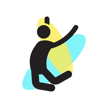 Man jumping up icon vector isolated on white background for your web and mobile app design, Man jumping up logo concept Иллюстрация