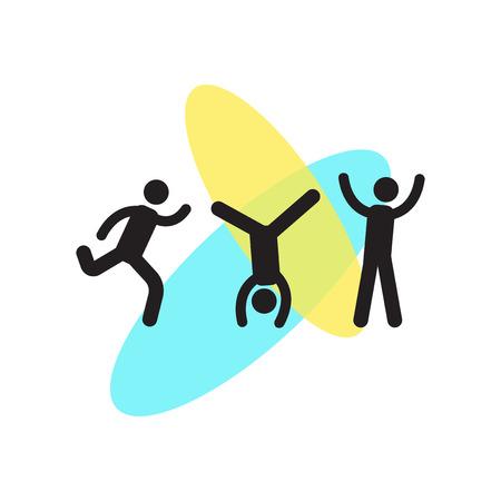 Cartwheel pictogram vector geïsoleerd op een witte achtergrond voor uw web en mobiele app design, Cartwheel logo concept