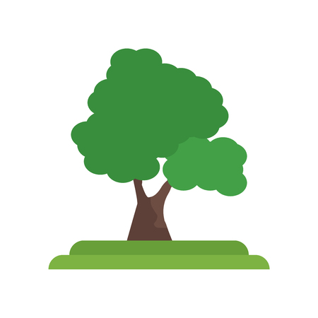 Basswood tree icon vector isolated on white background for your web and mobile app design, Basswood tree logo concept Vettoriali