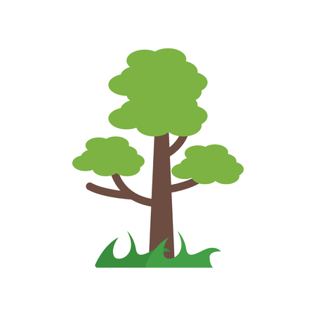 Tree icon vector isolated on white background for your web and mobile app design, Tree logo concept Vettoriali