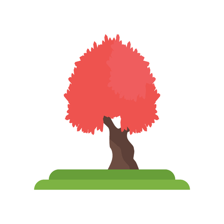 Red Maple tree icon vector isolated on white background for your web and mobile app design, Red Maple tree logo concept Illustration