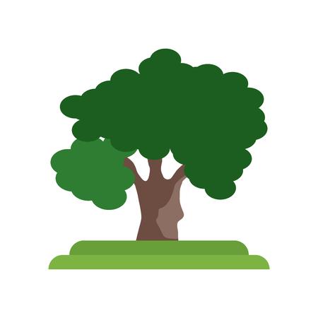 Vecteur d'icône arbre chêne noir isolé sur fond blanc pour la conception de votre application web et mobile, concept logo arbre chêne noir
