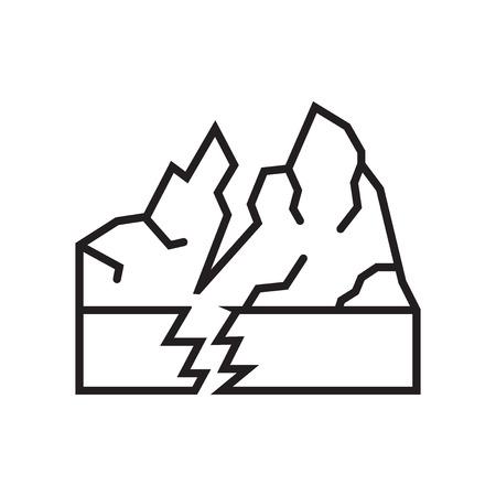 Icona di terremoto vettoriale isolato su sfondo bianco per il vostro web e progettazione di app per dispositivi mobili, concetto di marchio di terremoto
