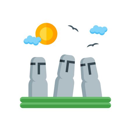Easter Island icon vector isolated on white background for your web and mobile app design, Easter Island logo concept