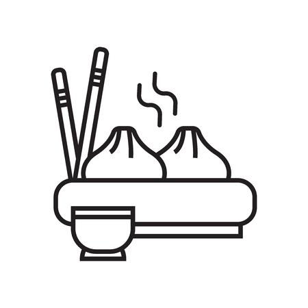 Vecteur d'icône de boulette isolé sur fond blanc pour la conception de votre application web et mobile, concept logo Dumpling