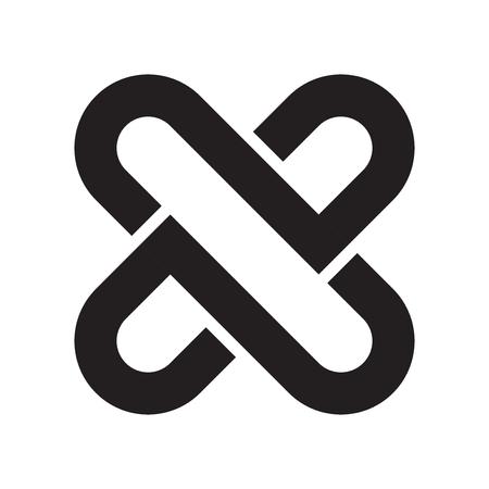 Vector icono de enclavamiento aislado sobre fondo blanco para su diseño web y aplicaciones móviles, concepto de logotipo de enclavamiento
