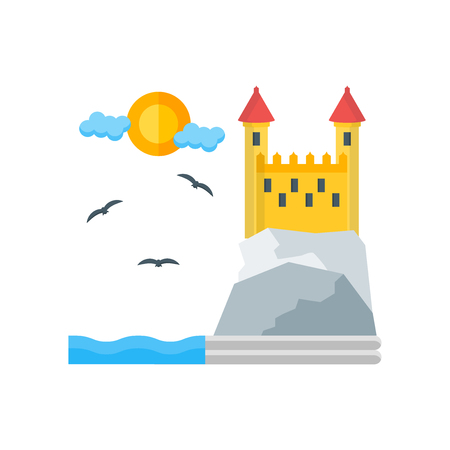 Castle icon vector isolated on white background for your web and mobile app design, Castle logo concept