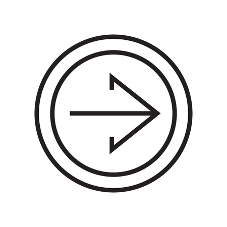 Right arrow icon vector isolated on white background for your web and mobile app design, Right arrow logo concept Vectores