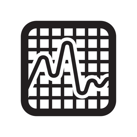 Smooth line chart icon vector isolated on white background for your web and mobile app design, Smooth line chart logo concept