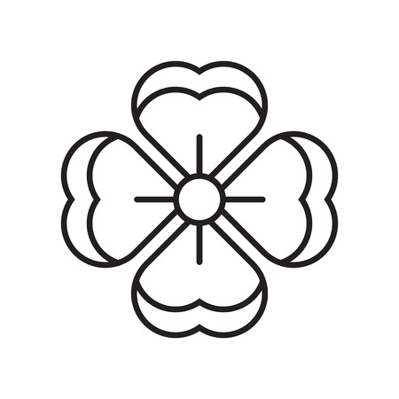 Flower icon vector isolated on white background for your web and mobile app design, Flower logo concept