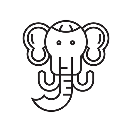 Mammoth icon vector isolated on white background for your web and mobile app design, Mammoth logo concept Ilustração