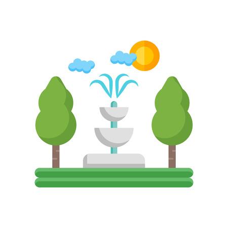 Fontana icona vettoriale isolato su sfondo bianco per il vostro web e progettazione mobile app, concetto di logo fontana Logo