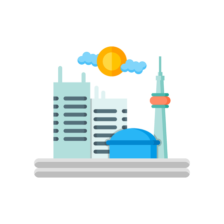 Toronto icon vector isolated on white background for your web and mobile app design, Toronto logo concept Logo