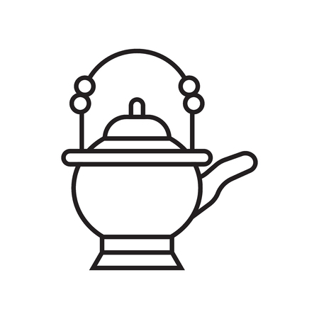 Teapot icon vector isolated on white background for your web and mobile app design, Teapot logo concept