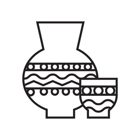 Keramikikonenvektor lokalisiert auf weißem Hintergrund für Ihr Web- und mobile App-Design, Keramiklogo-Konzept