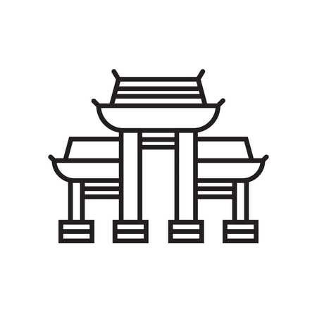 Paifang icon vector isolated on white background for your web and mobile app design, Paifang logo concept  イラスト・ベクター素材