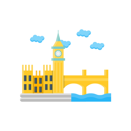 London icon vector isolated on white background for your web and mobile app design, London logo concept  イラスト・ベクター素材