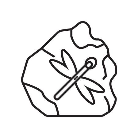 Fossiel pictogram vector geïsoleerd op een witte achtergrond voor uw web en mobiele app design, fossiel logo concept