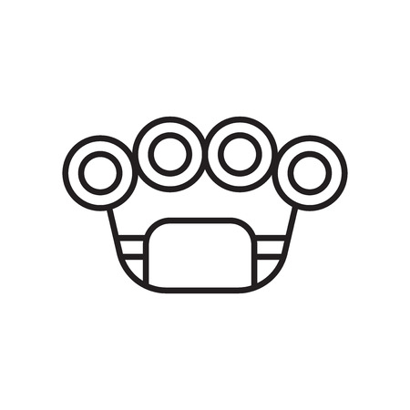 Brass knuckles icon vector isolated on white background for your web and mobile app design, Brass knuckles logo concept