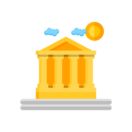 Parthenon icon vector isolated on white background for your web and mobile app design, Parthenon logo concept