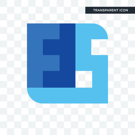 ffs vector icon isolated on transparent background