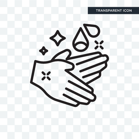 Hand wash vector icon isolated on transparent background Illustration