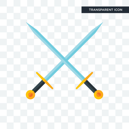 excalibur vector icon isolated on transparent background Illustration