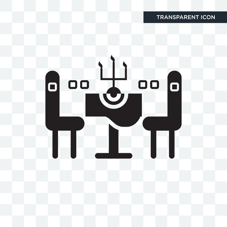Chairs vector icon isolated on transparent background