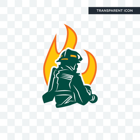 firemen vector icon isolated on transparent background