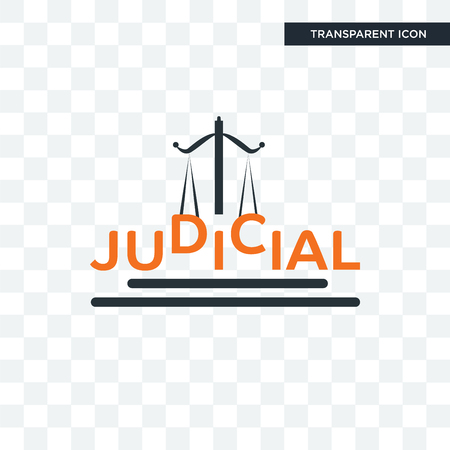 judicial vector icon isolated on transparent background