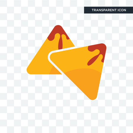 samosa vector icon isolated on transparent background