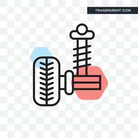 Suspension vector icon isolated on transparent background